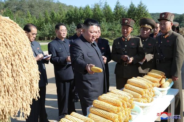 김정은 북한 국무위원장이 인민군 제810부대 산하 1116호 농장을 현지 지도했다고 9일 조선중앙통신이 보도했다./조선중앙통신·연합뉴스