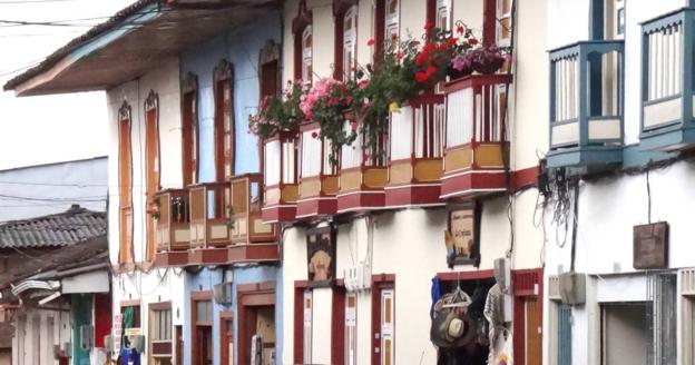 콜롬비아 '커피문화경관'의 아름다운 건축물. /트위터 캡처