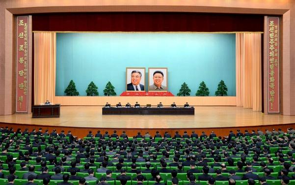 2017년 12월 28일 열린 북한 당·국가·경제·무력기관 간부 연석회의./연합뉴스