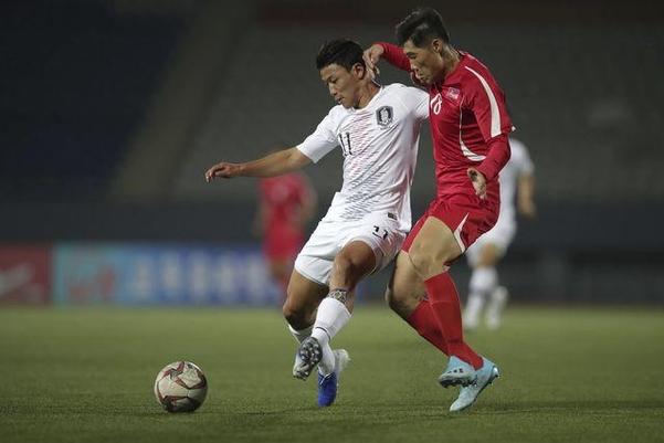 지난 15일 평양 김일성경기장에서 2022년 카타르월드컵 아시아 예선 남북 경기가 열리고 있다. /대한축구협회 제공