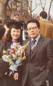 따님인 고(故)이민아 목사의 대학 졸업식 사진.