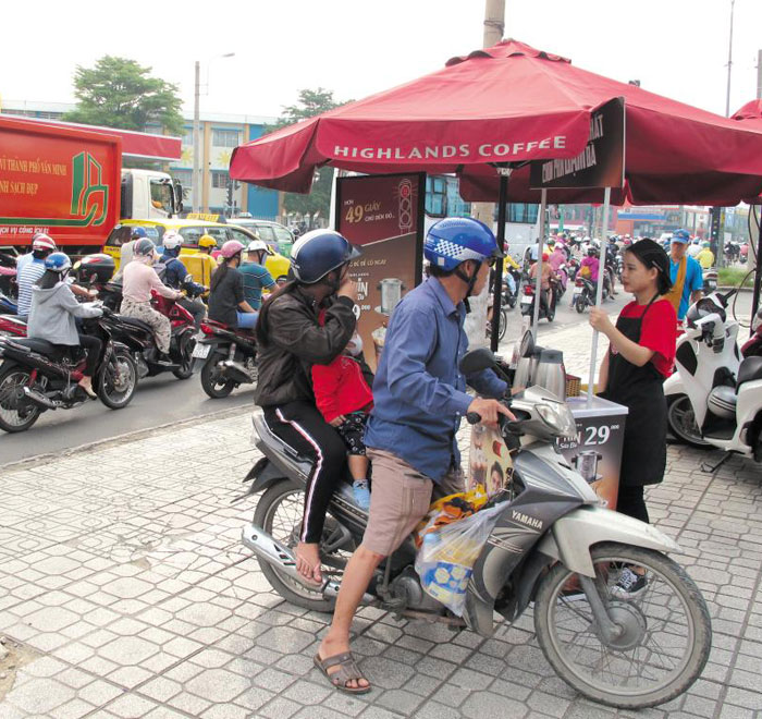 전쟁 붙은 베트남 서민들 커피 시장