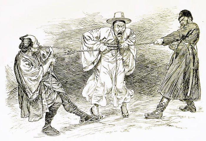 1904년 2월 3일 자 영국 잡지 '펀치(Punch)'에 실린 삽화.
