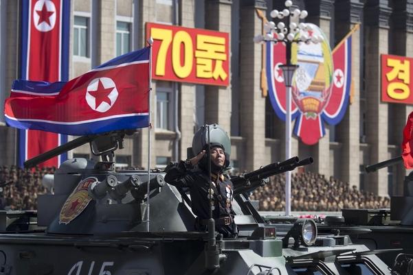 2018년 9월 9일 평양 시내에서 진행된 열병식./연합뉴스·조선중앙통신