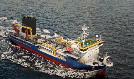 한진중공업이 해양환경공단에서 수주한 다목적 대형방제선 이미지./ 한진중 제공