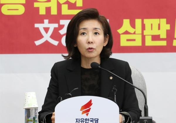 자유한국당 나경원 원내대표. /연합뉴스