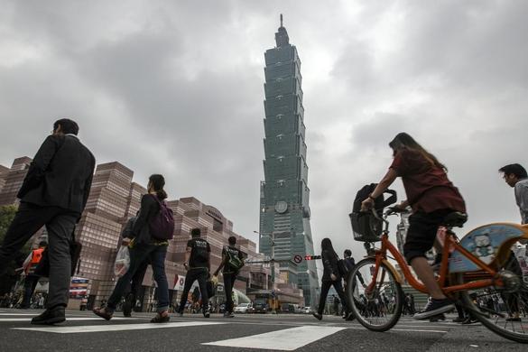 대만의 관광 명소 타이베이101 타워가 보이는 타이베이 중심가 풍경. /트위터 캡처