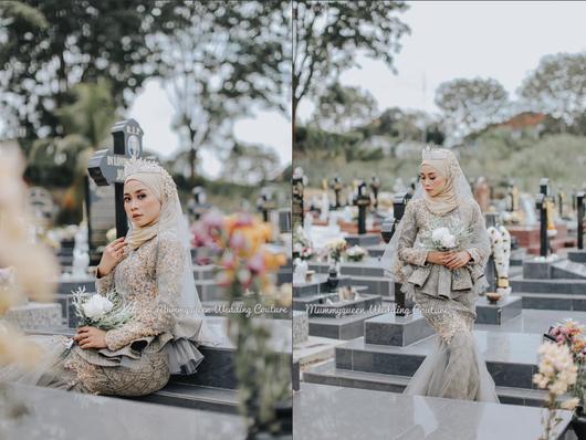 말레이시아에서 논란이 된 웨딩드레스 촬영 사진. /트위터 @chrissytwittwit 캡처