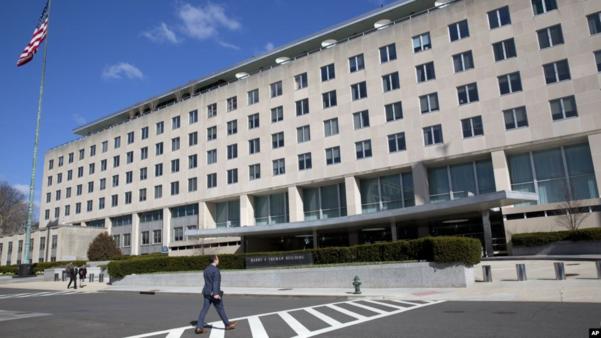 미국 워싱턴의 국무부 건물./AP, VOA 캡처