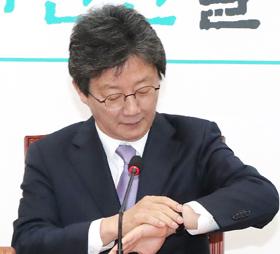 바른미래당 유승민 의원이 14일 오전 국회에서 신당 창당을 준비하는 회의를 주재하고 있다.