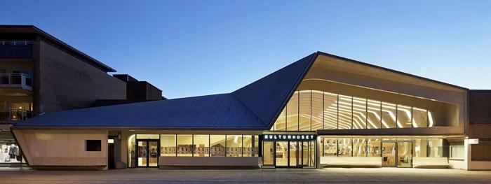 노르웨이 베네슬라 도서관의 문화센터. 고래 갈비뼈를 형상화한 디자인으로 눈길을 끈다.