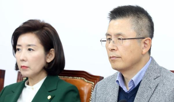 자유한국당 황교안(오른쪽) 대표와 나경원 원내대표/뉴시스