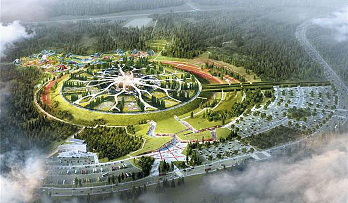 제주도 서귀포시 안덕면 서광리에 자리 잡은 신화역사공원 J지구에 조성되는 '제주신화역사 테마공원' 조감도.