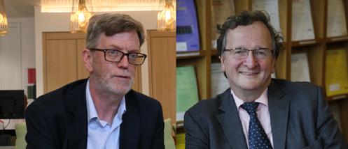 왼쪽부터 국제통상부 ICT 기술전문가 크리스 무어와 과학분야 고문 마이크 쇼트./ 안소영 기자