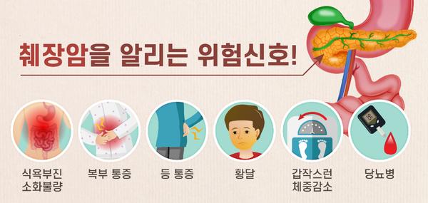 췌장암은 발병하면 속수무책인 경우가 많으므로 조기 발견이 중요하다. 갑작스런 체중 감소, 황달, 복부나 등 부위 통증, 소화장애 증상이 나타난다면 반드시 검진을 받아야 한다. /에이치플러스 양지병원 제공