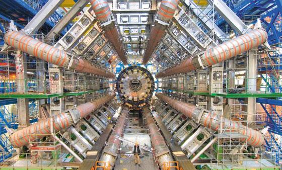 유럽입자물리연구소(CERN)가 보유한 세계에서 가장 큰 입자가속기의 모습.