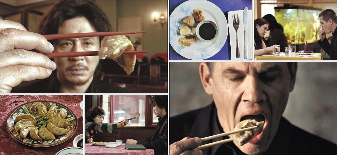 영화 '올드보이' 한국 원작(2003년) 주인공 오대수와 미국판(2013년) 주인공 조는 기나긴 감금 동안 군만두를 물리게 먹는다는 공통점이 있다. 한국에서 군만두는 평범한 음식이지만, 미국에선 전문 중식당에서 나오는 별식에 가깝다. 그렇기에 미국판 주인공은 미국에서 군만두보다 일상적인 음식, 그러니까 피자나 햄버거, 부리토 따위를 먹는 게 더 자연스럽지 않았을까. /영화 캡처