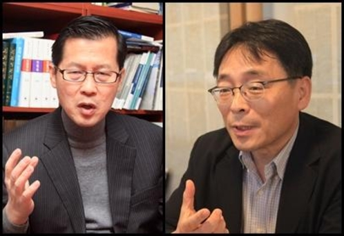 (왼쪽부터) 정성장 세종연구소 연구기획본부장, 조성렬 국가안보전략연구원 자문연구위원./윤희훈 기자