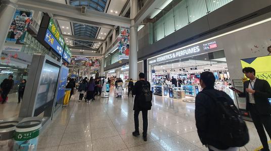 인천공항 제1여객터미널 면세점./안상희 기자