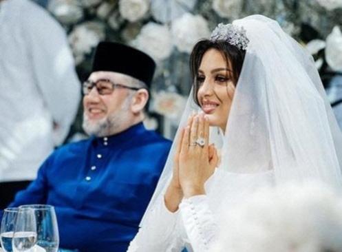 옥사나 보예보디나(사진 오른쪽)이 무하맛 5세와 결혼하는 사진. /보예보디나 인스타그램