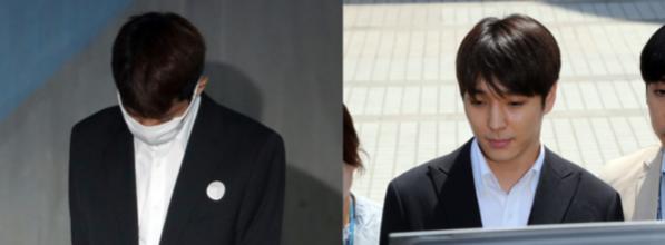 가수 정준영(왼쪽)과 최종훈. /연합뉴스