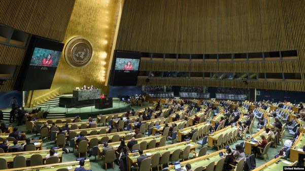 지난 11일(현지시각) 미국 뉴욕 유엔본부에서 유엔 총회가 열리고 있다./UN