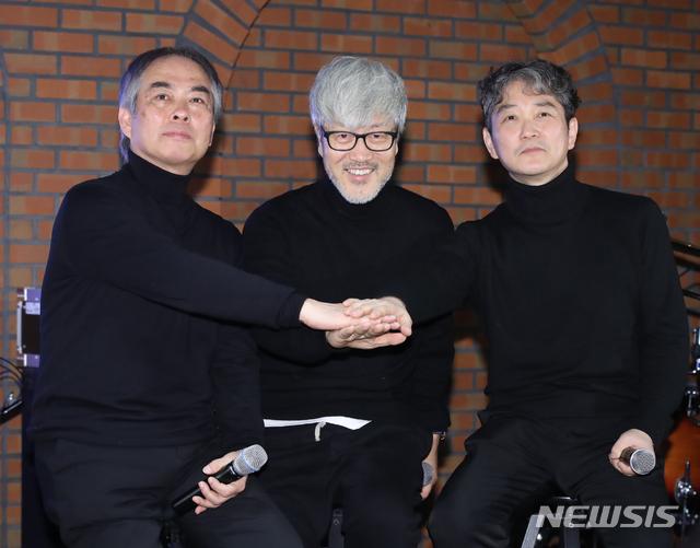 김종진-박성식-장기호 '앨범 재킷 표지처럼 손 모아'
