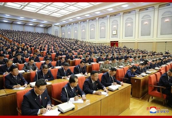 북한이 지난 28일 노동당 제7기 제5차 전원회의를 열었다고 조선중앙통신이 29일 보도했다. /연합뉴스·조선중앙통신