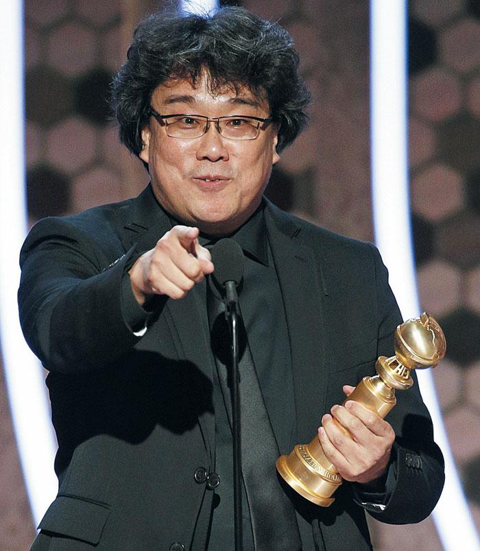 5일(현지 시각) 골든글로브 시상식에서 한국 영화 최초로 봉준호 감독의 '기생충'이 외국어영화상을 받았다.