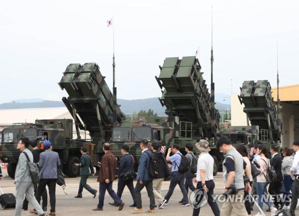 패트리엇 지대공 미사일./연합뉴스 자료사진