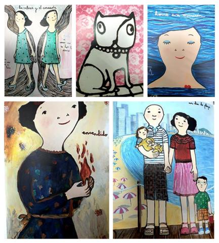 보기만 해도 미소가 그려지는 에바 알머슨의 작품. 2020년 4월 5일까지 부산문화회관에서 전시회가 이어진다.