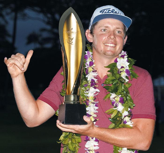 연장 접전 끝에 소니오픈에서 우승한 호주의 캐머런 스미스.