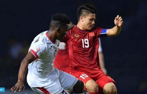 D조 2차전에서 맞붙은 베트남(오른쪽)과 요르단 선수. /AFC 제공