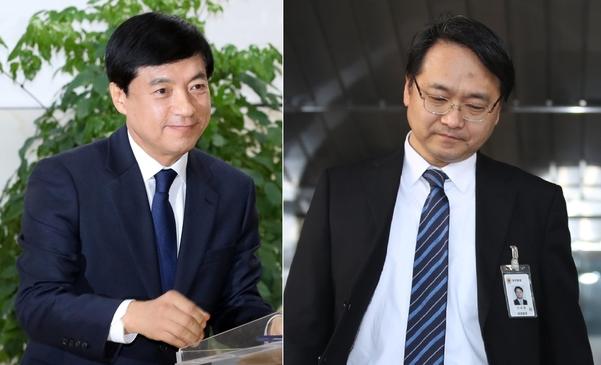 이성윤 신임 서울중앙지검장(왼쪽)과 강남일 신임 대전고검장(전 대검 차장) / 연합뉴스