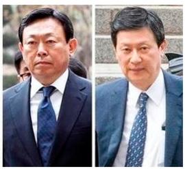 신동빈 롯데 회장, 신동주 롯데홀딩스 전 부회장./조선일보DB