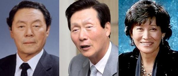 (왼쪽부터) 신춘호 농심 회장, 신준호 푸르밀 회장, 신정희 동화면세점 대표./조선DB