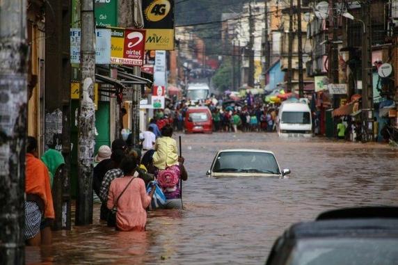 비에 잠긴 마다가스카르. /AP연합뉴스