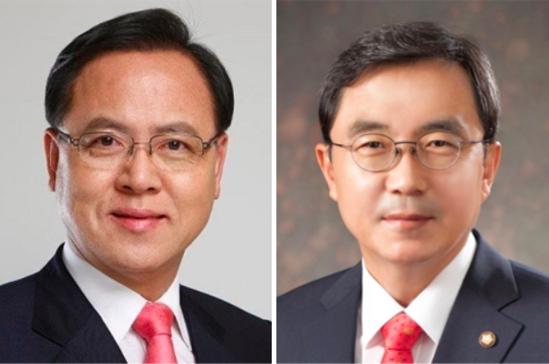 자유한국당 이명수 의원(왼쪽)과 경대수 의원/조선일보DB