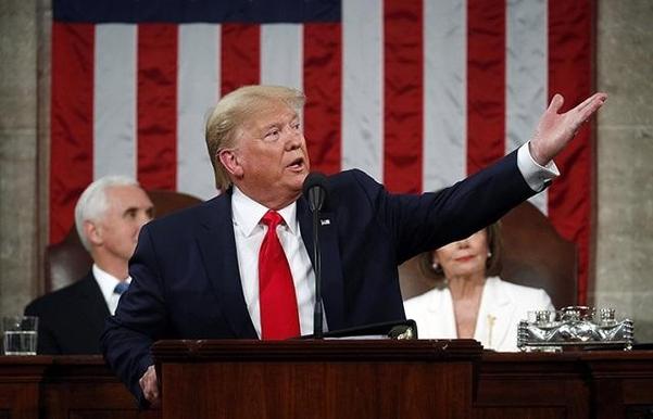 도널드 트럼프 미국 대통령이 4일 취임 4년차를 맞아 새해 국정연설을 했다. /트위터 캡처