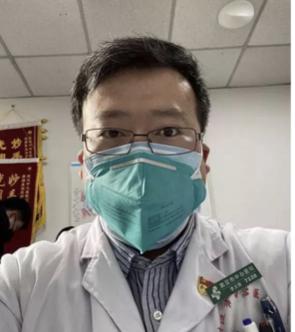 우한 폐렴 발생 사실을 최초로 알린 30대 의사 리원량이 7일 숨진 이후 중국 내에서 반정부 여론이 확산돼 정부가 진압에 나섰다. / 리원량 웨이보