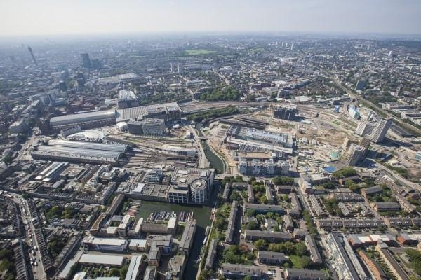 영국 런던의 주요 도시재생 사업 중 하나인 '킹스크로스센트럴 개발사업'의 항공사진 /런던시