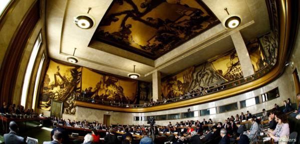 스위스 제네바 유엔 본부에서 군축회의가 열리고 있다. /로이터, VOA 자료사진