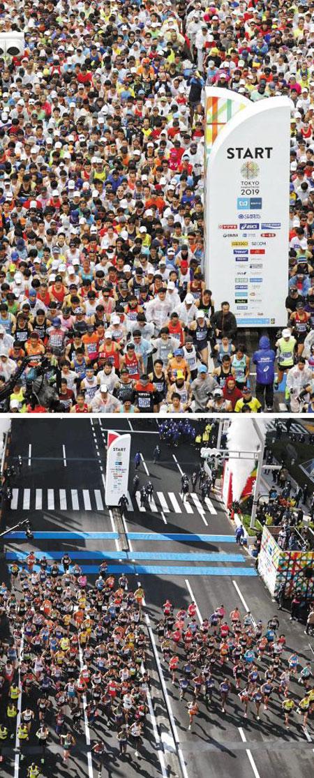 작년 2만명 도쿄마라톤, 올해는 200명
