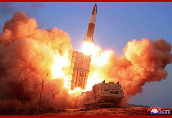 북한이 공개한 지난 21일 북한판 에이태킴스 미사일 도발 모습. /조선중앙통신