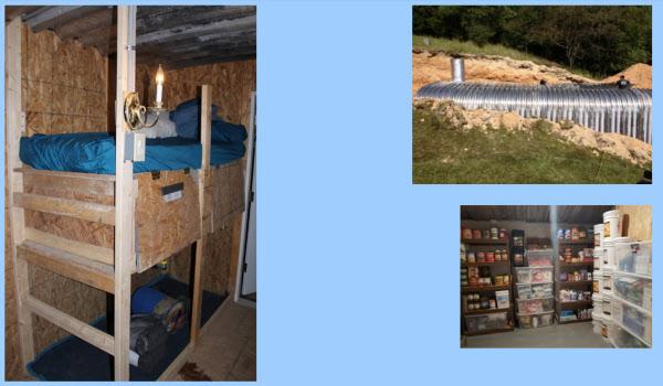 포티튜드 랜치의 벙커 내외부 모습. 1년치 식량도 준비돼 있고, 각종 재앙이 와도 버틸 수 있도록 설계돼 있다./포티튜드 랜치 홈페이지 캡쳐