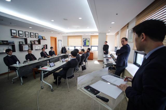 K리그 긴급 이사회 모습   사진제공=프로축구연맹