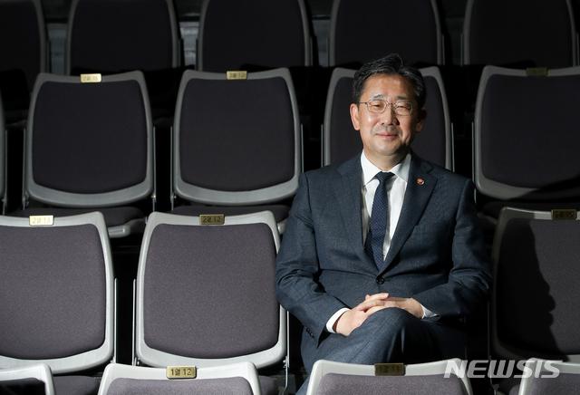 객석에 앉은 박양우 문화체육관광부 장관