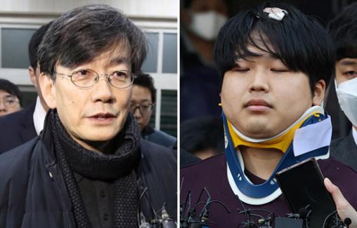 손석희 JTBC 사장(왼쪽)과 텔레그램 성착취물 공유방 운영자 조주빈
