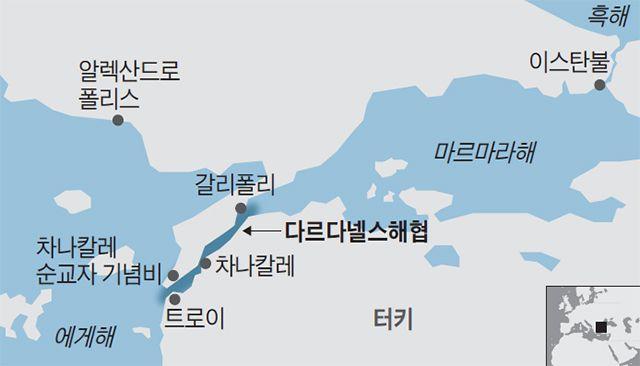 다르다넬스해협 지도