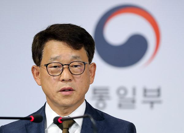 정례브리핑 중인 여상기 통일부 대변인. /뉴시스